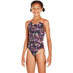 speedo Funsplash Allover Splashback Badpak Meisjes, black-siren-diva